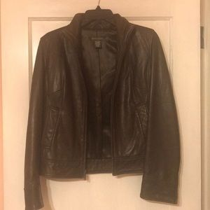 Banana Republic Leather Jacket Size S